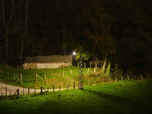 Licht einer Straßenlaterne